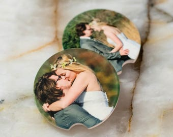 Personalized Car Coaster, Custom Photo Car Coasters, Car Coaster with Your Photo, Gift for Her, Gift for Newlyweds, Gift for Couple
