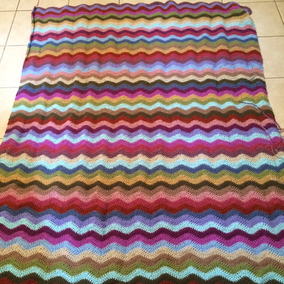 Welligkeit afghanischen Decke Decke bunt Gehäkelte Decke /