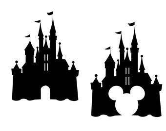 Disney castle svg, Castle clipart, Disney svg Disney dxf, castle silhouette, Mouse svg, Mickey dxf