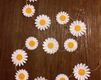 Hand made daisy chain garland