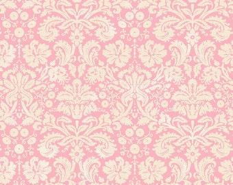 Blend Fabrics Flora & Fauna Somerset Damask Pink - 123.101.03.3 - Cotton Woven Fabric