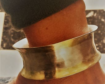 Handmade forged silver bracelet