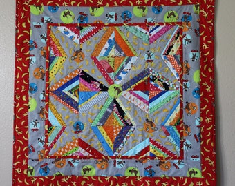 Sock Monkey On Wheels Quilt