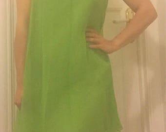 Vintage 1960s Sheath Dress with Chiffon Overlay