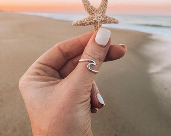 New! // Sterling Silver Wave Ring