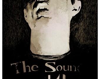 Ian Curtis portrait - A4 colour art print