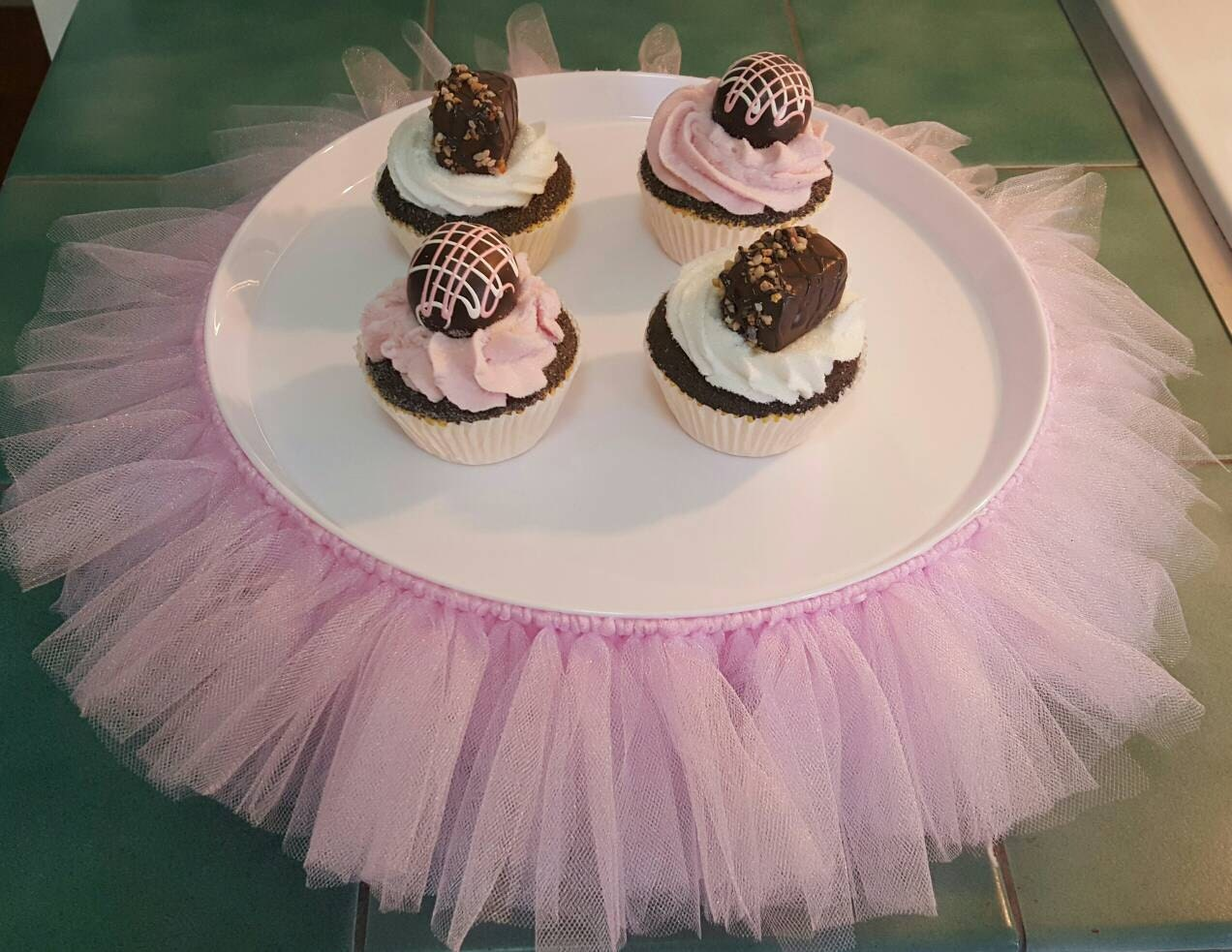CAKE STAND Tutu Pink XL cupcake tier tulle skirt princess ballerina decorations Baby Shower 16 Birthday Party centerpiece bridal quinceanera & CAKE STAND Tutu Pink XL cupcake tier tulle skirt princess ballerina ...
