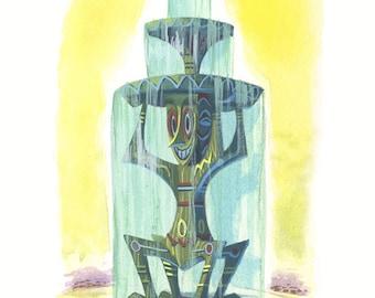 Tiki Fountain print 5x7