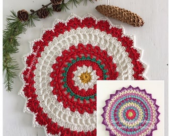Crochet Mandala Pattern Mandala Doily pattern - Instant Download PDF Crochet Pattern Tutorial mat Pattern 10inches Instant Download Pattern