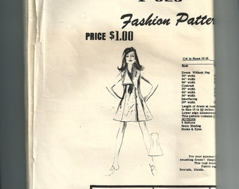 Fashion Pattern Dress Pattern F625