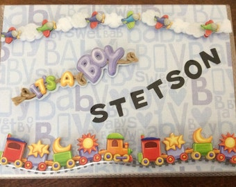 Beautifully Decorated Photo Album Cover - It's A Boy - Stetson