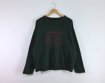 Rare!! United colors of benetton sweatshirt pullover jumper sweater embroidery big spellout logo