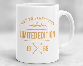 50th Birthday Mug, 50th Birthday Present Idea, 50th Birthday Gift, 1968 Birthday Mug, 50th Birthday Idea, Birthday Gift for 50 year old P70