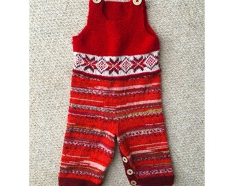 Nordic Alpaca Blend Hand Knitted Baby Romper
