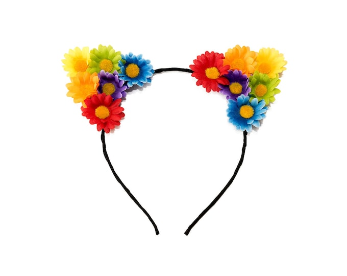 Rainbow Cat Ear Headband