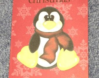 Christmas Penguin card set (9)