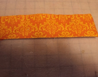 Hair accessories, elastic headband, Orange and gold, great for Halloween