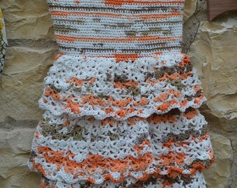 crocheted dress is cotton and viscose