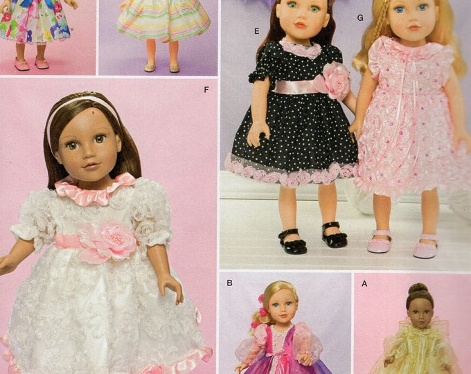 "Simplicity 1344 Free Us Ship 18"" Doll Clothes Wardrobe Costume New Sewing Pattern Fits American Girl Out of Print Uncut New"