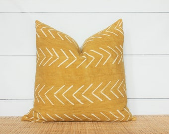 Mudcloth Pillow Cover | Authentic Mudcloth | 22x22 | No404