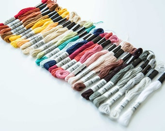 Cosmo Cotton Embroidery Floss Assorted Colours Packet