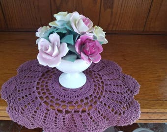 Purple Doily