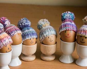 Egg Cosies set of 6 brightly coloured egg cosies, hand knitted, Easter Egg Cosy, egg warmers
