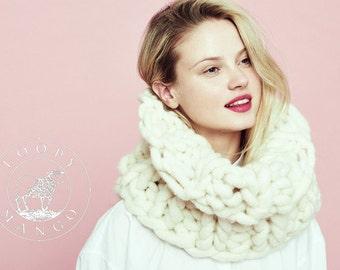 Loopy Mango - Cleopatra Cowl - Super Chunky Hand Knit Merino Wool