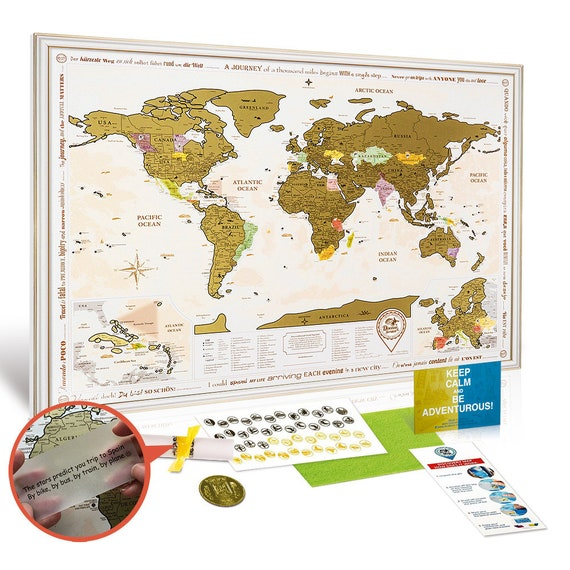 New framed world map with scratch off gold edition large gumiabroncs Image collections