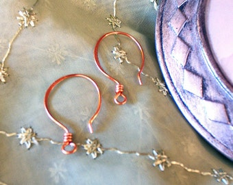 Copper Ear Wire/ SALE / med lrg/ Handcrafted