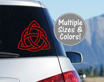 Celtic Knot Car Sticker, Trinity Knot Decal for Cars, Celtic Knot Decal Truck Decal for Car Window Decal Glitter Decal Car Celtic Knot Decal