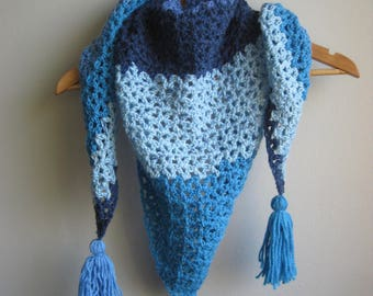 Beautiful Crochet Triangle Scarf