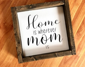 Mother's Day hand painted wooden sign