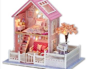 Pink Sakura - DIY Miniature Dollhouse Kit