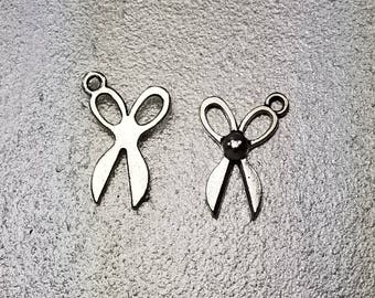 Antique Silver Scissor Alloy Charm