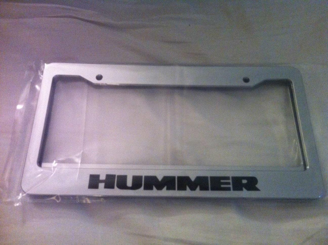 Großer LKW Hummer Kennzeichenhalter Chrome Automobil