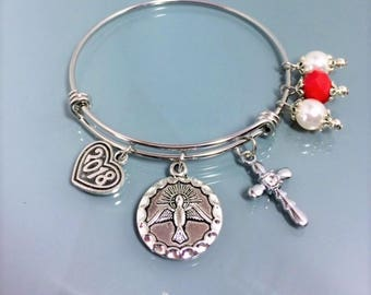 2018 Confirmation Bangle Bracelet Gifts/Dove Confirmation Gifts Women Girls/Confirmation Religious Jewelry Gifts/Confirmation Gifts for Her