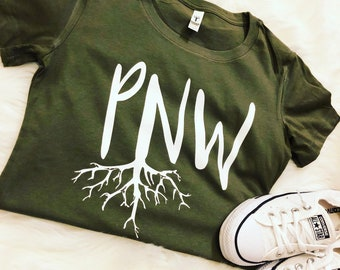 PNW roots comfy tee
