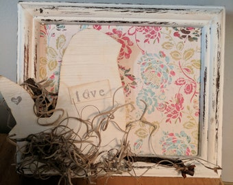 "Handmade Mixed Media ""Love"" Bird"