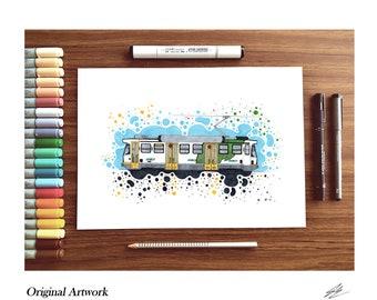Melbourne Tram Sketch A4- [Original Piece!]