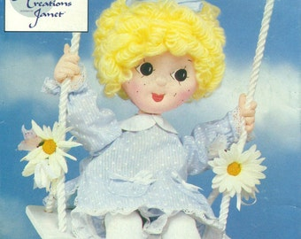 "Butterick 3607 SOFT CLOTH DOLL 20""  & Clothes © 1985 Also Issued as Butterick 393"