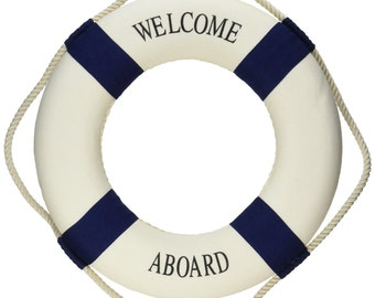 Nautical Life Ring Accent Decor; Welcome Aboard Decoration; Nautical Theme Birthday; Nautical Baby Shower; Water Theme Party Decor; Sea deco