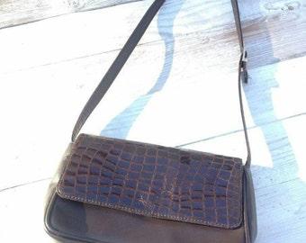 Frühjahrsausverkauf !! Handtasche crossbody bag vintage Umhängetasche art and crafts retro french-style brown