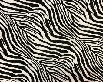 "100% Organic Rayon Challis Tiger Print Fabric Sold By The Yard 58"" Width"