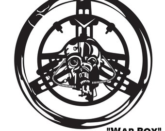 "8"" Vinyl Sticker, WarBoys, Mad Max, Fury Road, Halloween, Sci Fi, DECAL, Fan Art, Horror,"