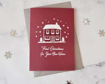 First Christmas In Your New Home Illustration Christmas Card