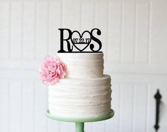 Customized Wedding Cake Topper, Personalized Cake Topper for Wedding, Custom Personalized Wedding Cake Topper, Initial Cake Topper