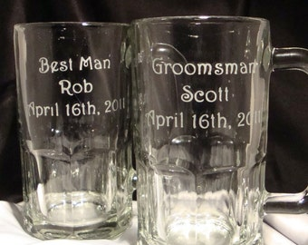 Custom Personalized Beer Mugs For Your Wedding Party - Bachelor Party - Groomsman Gift - Father of the Bride Gift - Groom Beer Mug