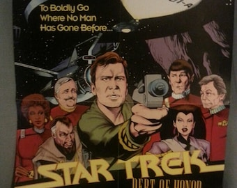 Vintage Star Trek Debt of Honor Poster/1992/Unique find/Great Condition