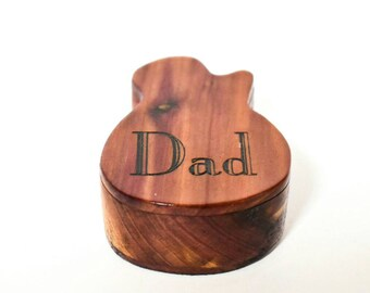 Wooden Guitar Pick Box, Electric guitar pick box, Red cedar guitar pick box, gift for Dad, guitar gift, Father's Day gift, music gift RC&E